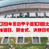 2019年夏の甲子園101回大会 出場校、抽選日、開会式、決勝日程